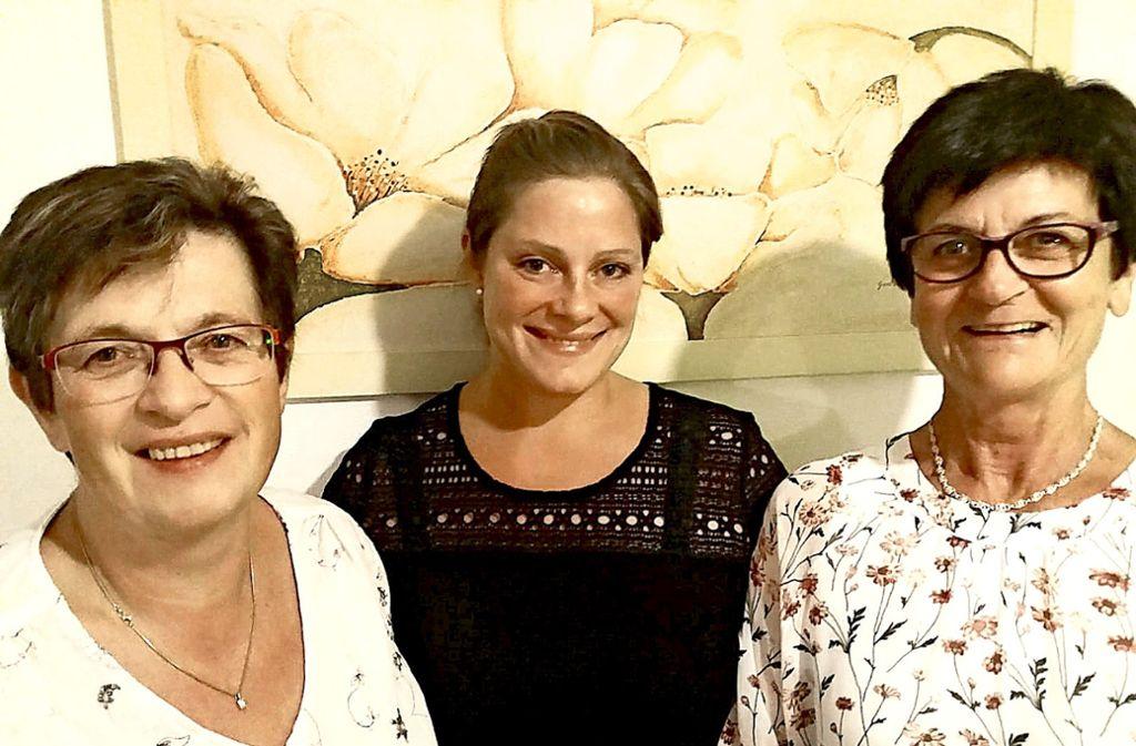 Resi Berger-Bäuerle, Yvonne Schmidt-Schwämmle und Rose Marie Fischer (von links) möchten wieder in den Gemeinderat. Foto: privat
