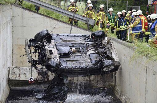 BMW schanzt in Regenrückhaltebecken
