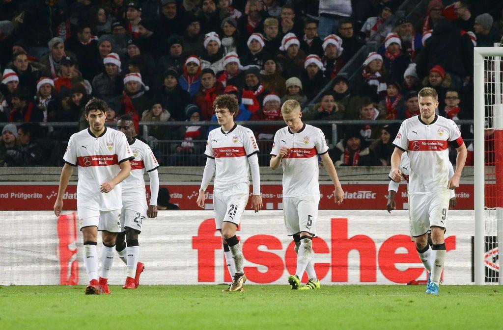 Der VfB muss sich gegen Leverkusen geschlagen geben. Foto: Pressefoto Baumann