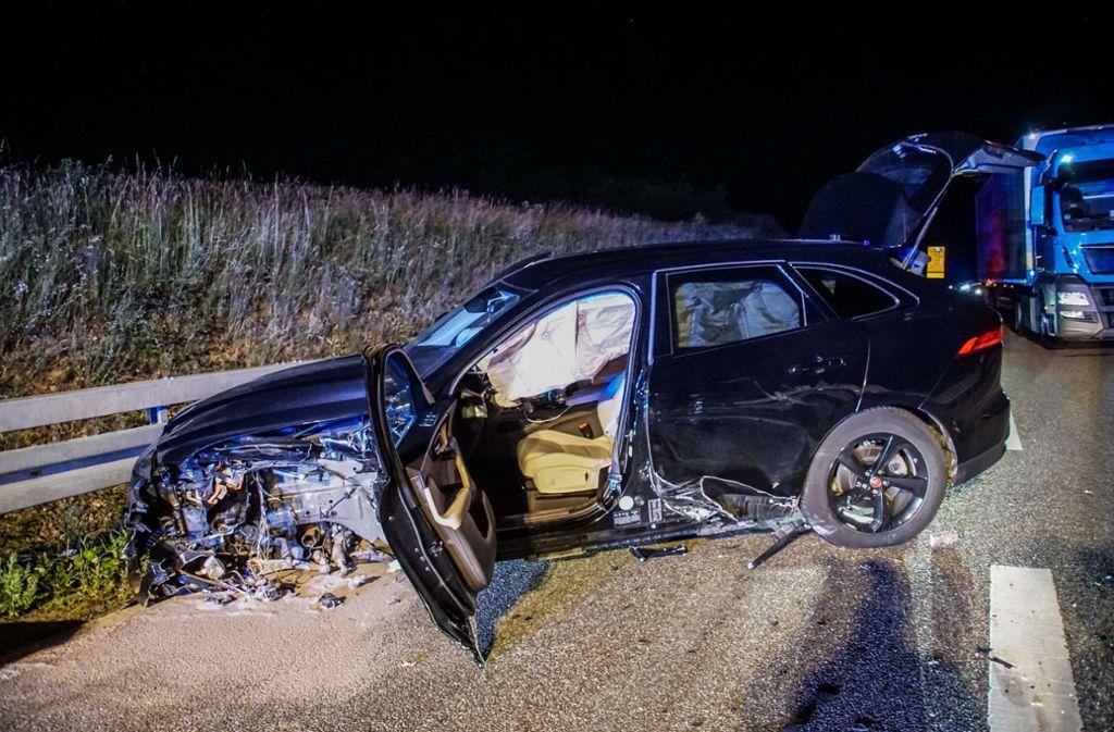 Der Unfallwagen. Foto: SDMG