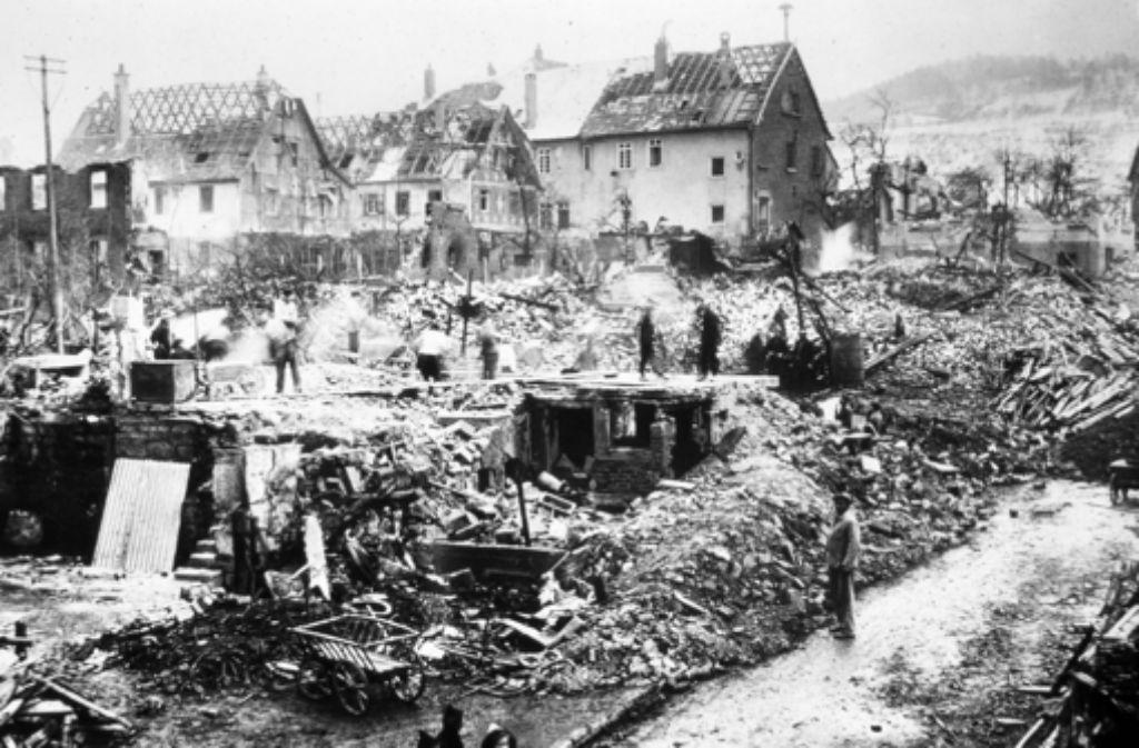 Die Luftangriffe im Zweiten Weltkrieg hinterlassen Spuren in Fellbach. Foto: Archiv