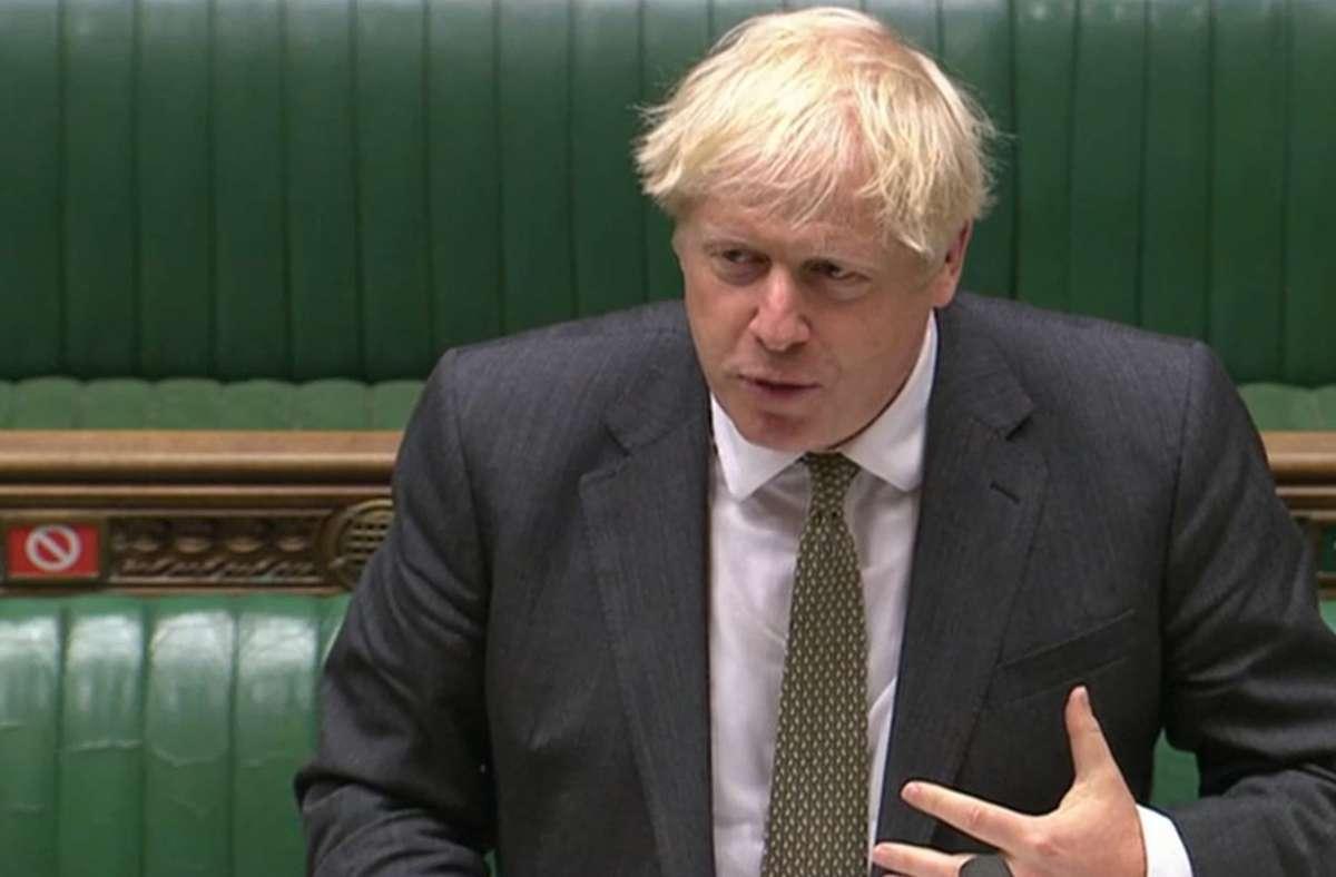 Boris Johnson erwartet einen harten Bruch ohne Vertrag mit der EU. Foto: dpa/House Of Commons