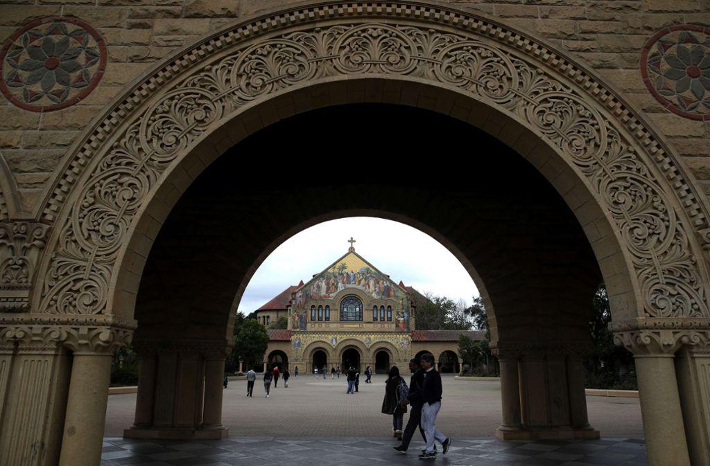 Der Campus von Stanford: Die kalifornische Elite-Universität wird wie andere Spitzeneinrichtungen von einem Korruptionsskandal erschüttert. Foto: AFP