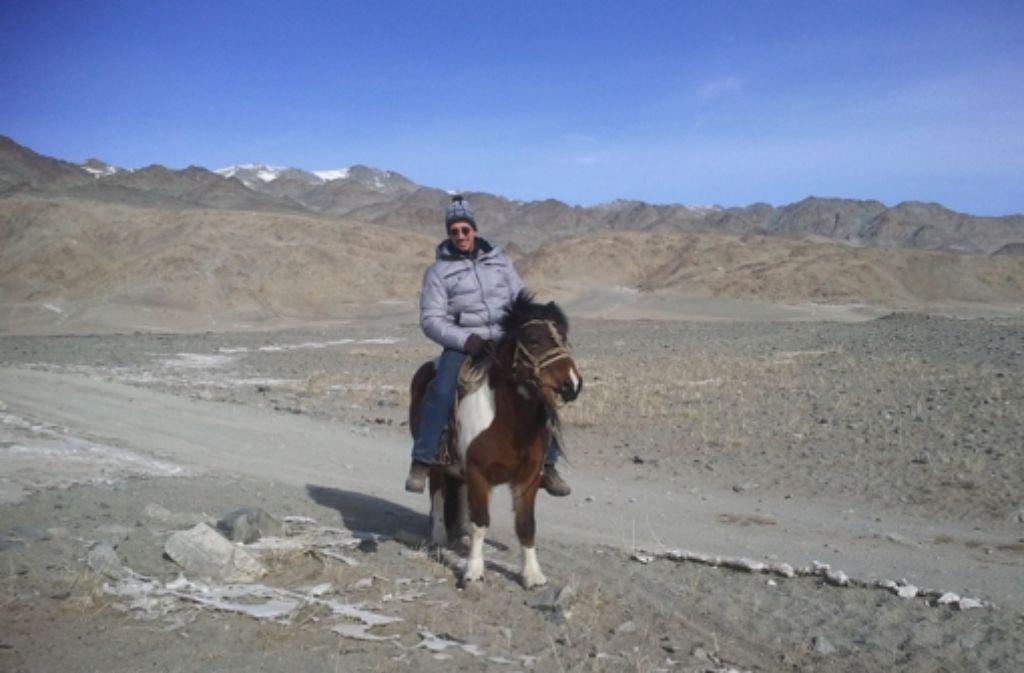 Fechner auf einem Mongolenpferd Foto: Fechner Media