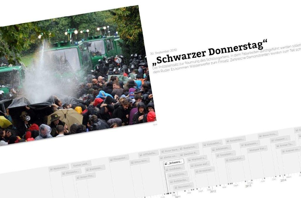 In unserer Timeline beleuchten wir die Geschichte von Stuttgart 21, wie sie bis jetzt war. Foto: Screenshot StZ