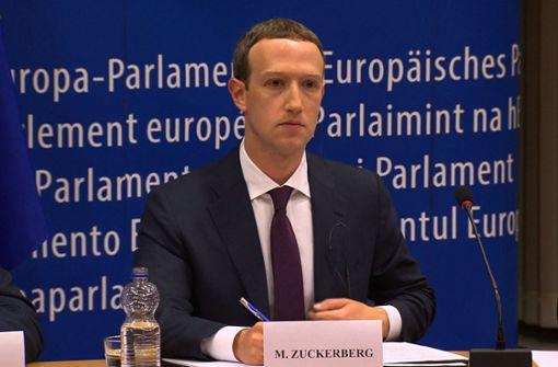 Facebook-Chef enttäuscht mit Aussagen vor EU-Parlament