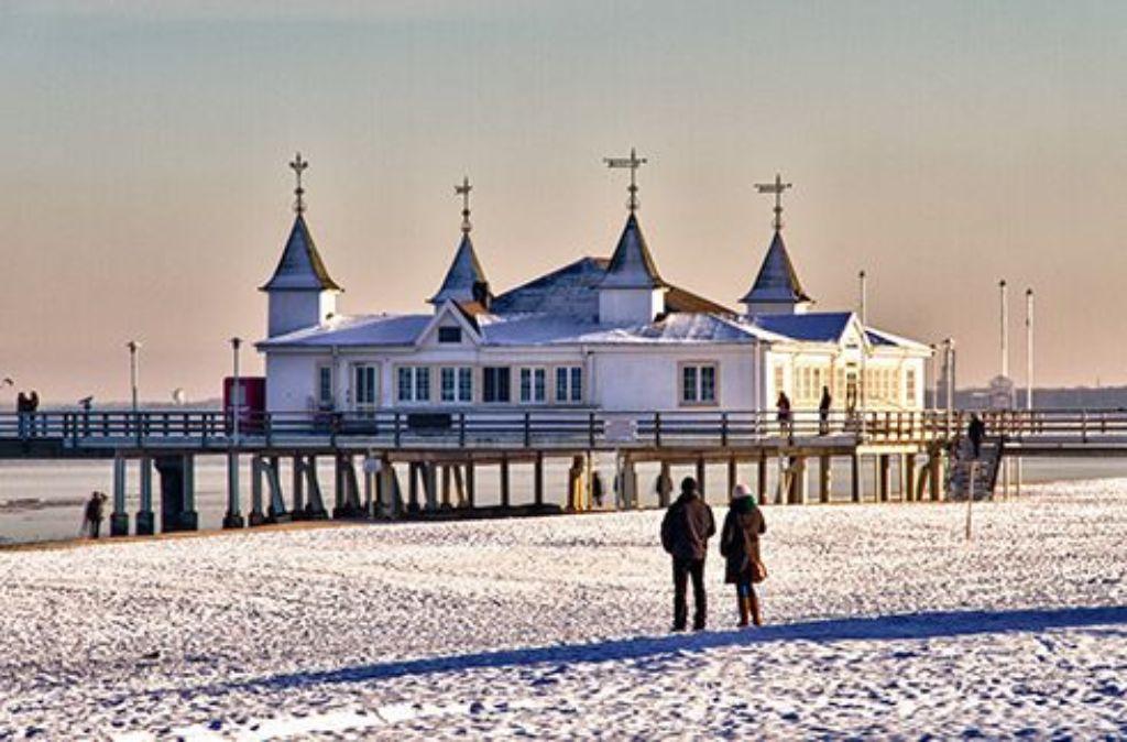 Auch im Winter ist die Insel Usedom, hier die Seebrücke Ahlbeck, eine Reise wert   Foto: Usedom Tourismus GmbH