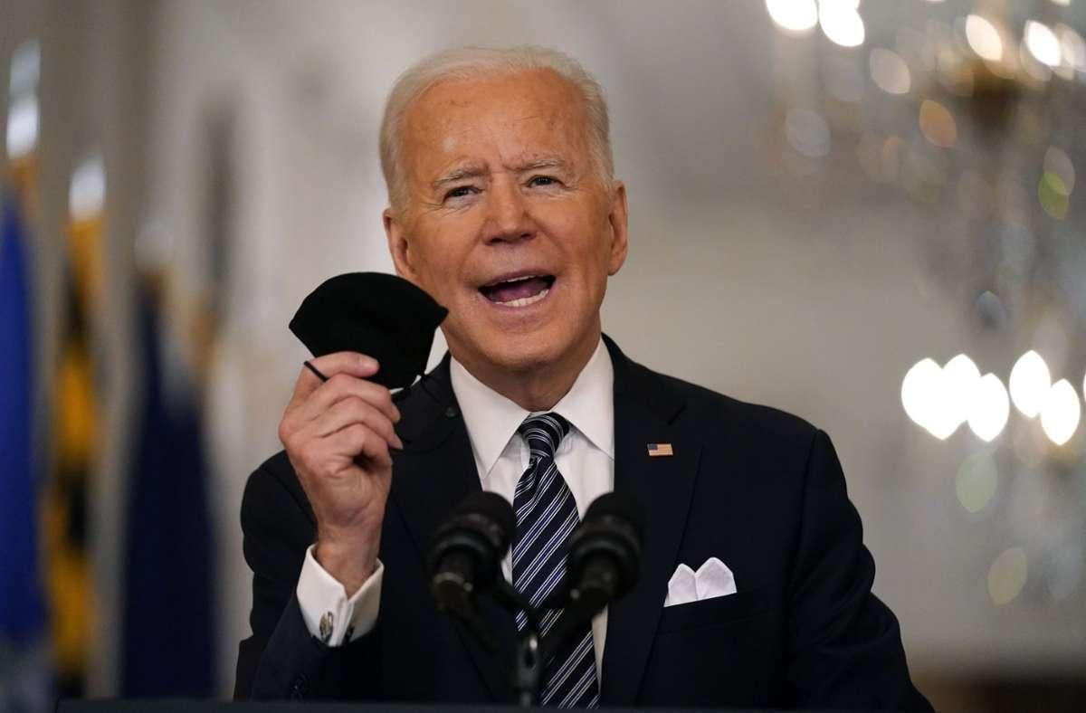 """Joe Biden nannte den Schritt einen """"Meilenstein"""". Foto: dpa/Andrew Harnik"""