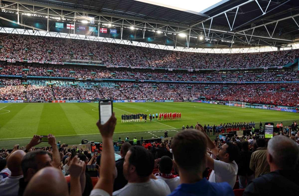 Im Finale werden wieder etwas mehr als 60.000 Zuschauer ins Wembley-Stadion strömen. Foto: AFP/CATHERINE IVILL