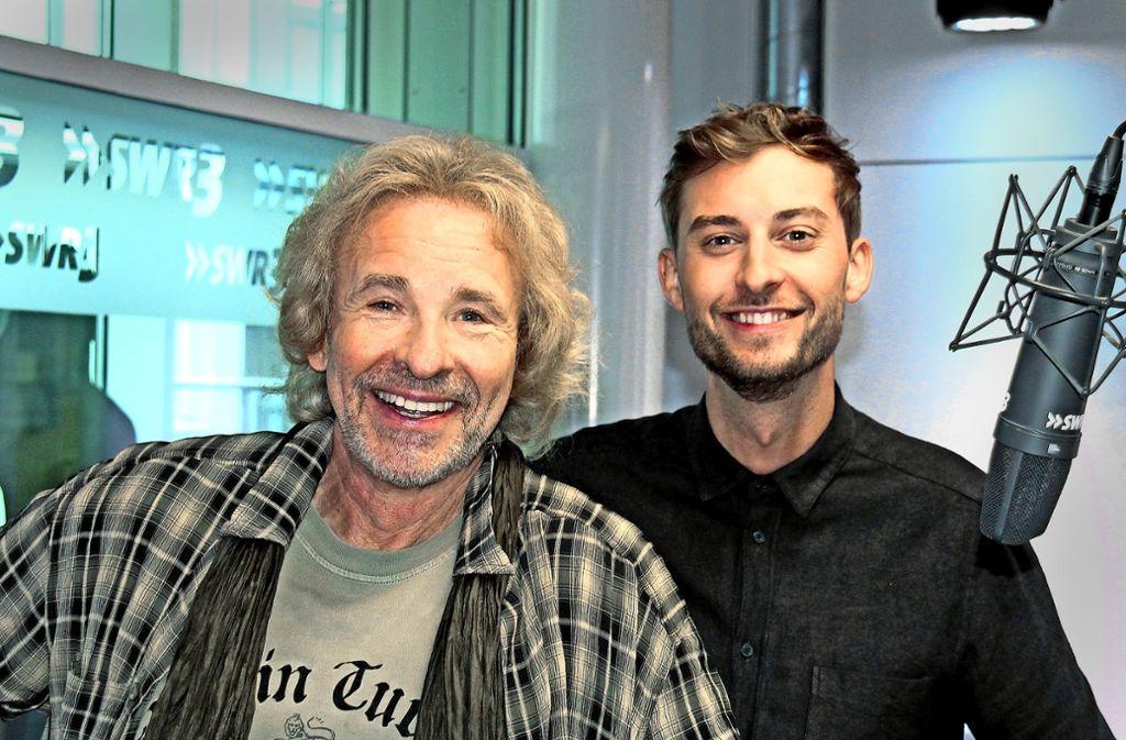 Duo im Studio: Thomas Gottschalk (li.) und Constantin Zöller Foto: SWR/Markus Vogt