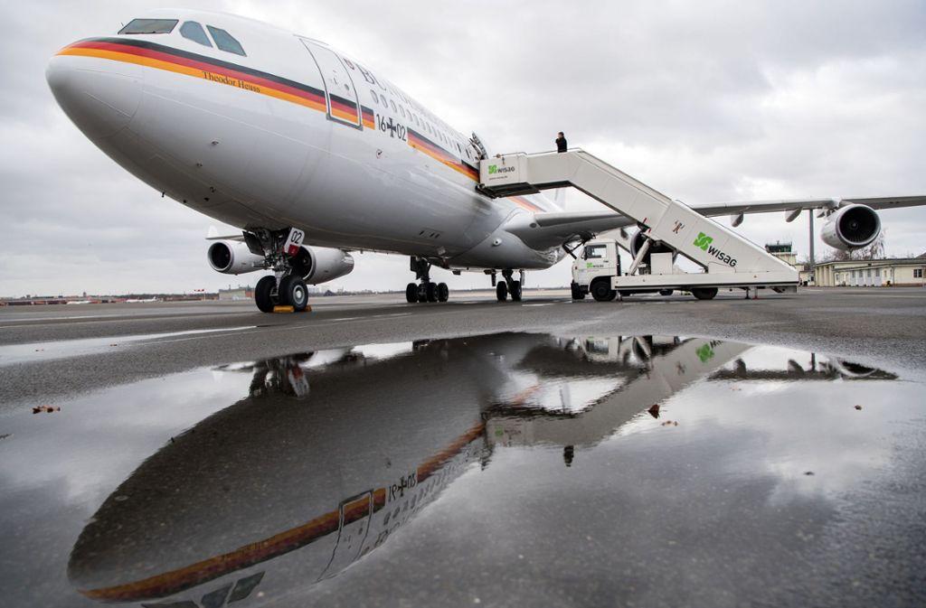 Der Regierungsairbus A340 – hier im Februar 2019  – soll die Kanzlerin nach New York bringen. Foto: dpa