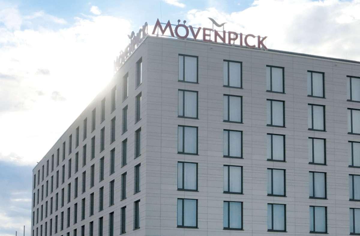 Das neue Mövenpick Hotel Stuttgart Messe & Congress ist derzeit geschlossen, der Tagungsbereich jedoch wird je nach Bedarf genutzt. Foto: Matthias Ring