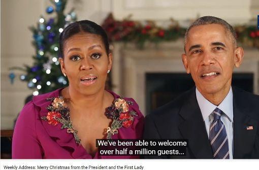 Wie sich Michelle Obama über ihren Mann lustig macht