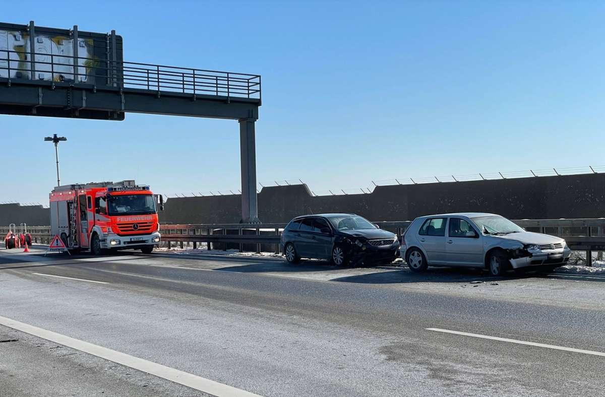 Bei dem Unfall auf Höhe Plieningen wurde ersten Informationen zufolge eine Person verletzt. Foto: 7aktuell.de/Alexander Hald/7aktuell.de | Alexander Hald