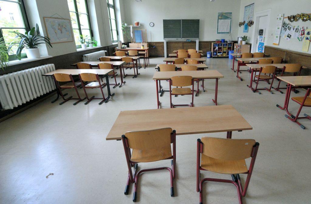 Im Ausnahmefall bleiben die Klassenzimmer leer und die Kinder klassenweise daheim. Foto: dpa-Zentralbild
