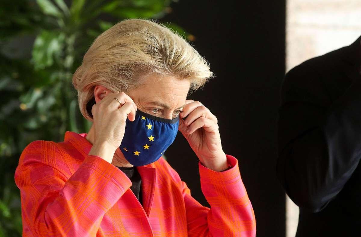 EU-Kommissionschefin Ursula von der Leyen kritisiert Ungarn und Polen im Zusammenhang mit der LGTBQ-Debatte. (Archivbild) Foto: imago images/Pixsell/Goran Stanzl/PIXSELL via www.imago-images.de