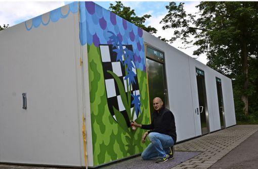 Graffiti-Kunst mit Bezug zum Stadtteil