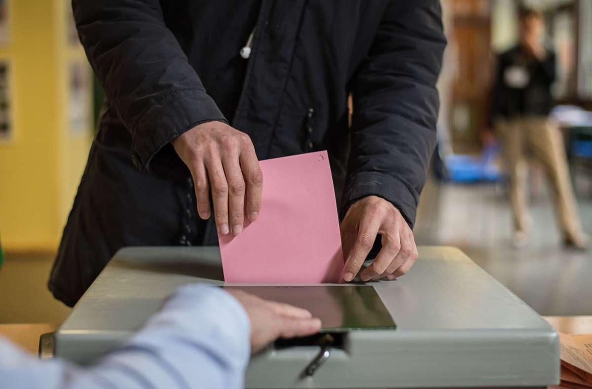 Hier zeigen wir die Ergebnisse der Landtagswahl 2021 im Kreis Esslingen. Foto: dpa/Wolfram Kastl