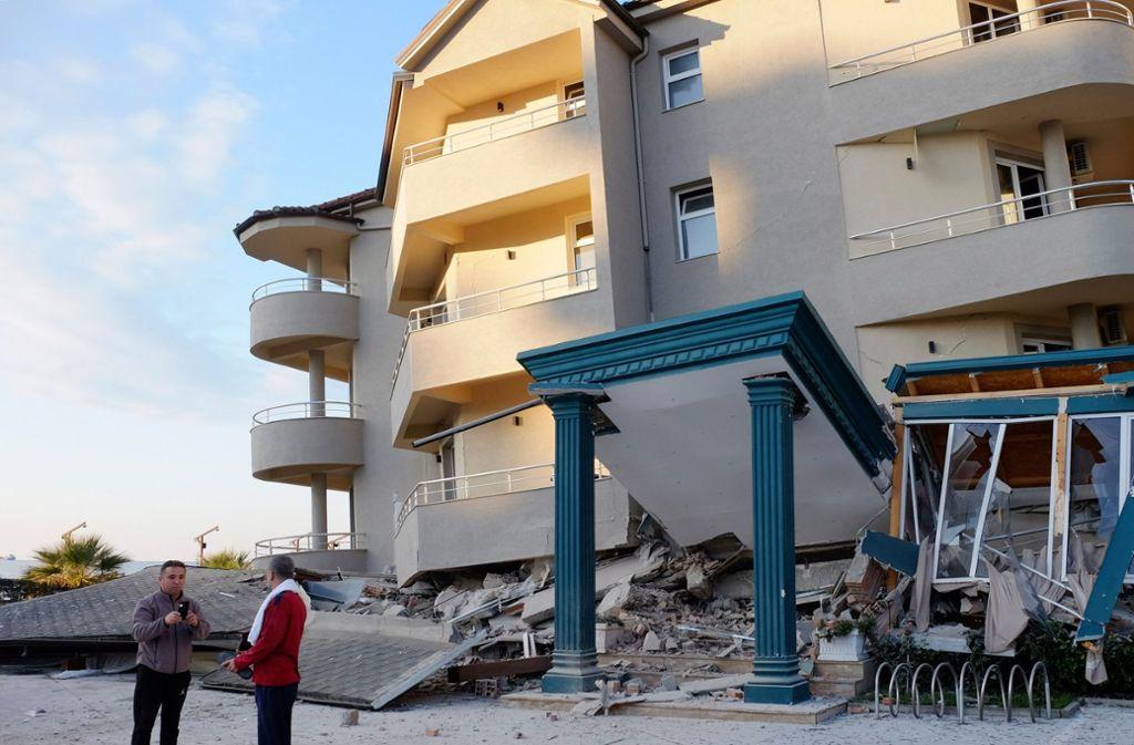 In Albanien wackelte am Dienstagmorgen die Erde. Foto: dpa/Hektor Pustina