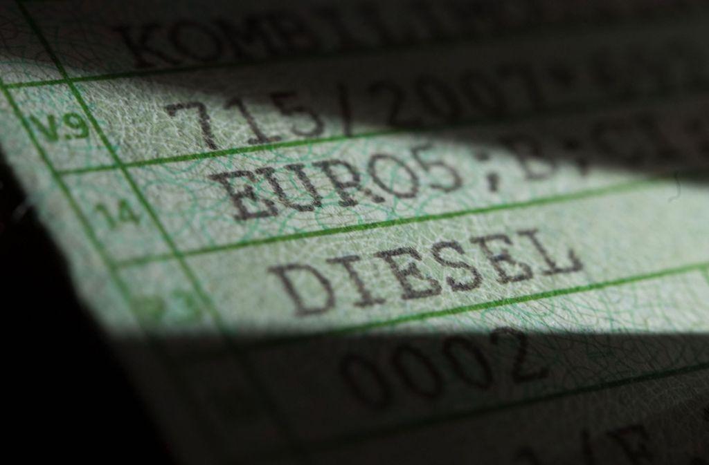 Wie geht es weiter mit Diesel-Fahrzeugen der Euronorm 5? Foto: dpa