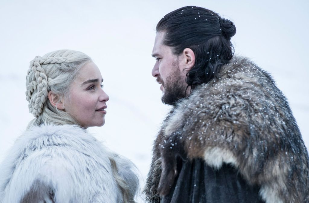 Emilia Clarke als Daenerys Targaryen und Kit Harington als Jon Schnee Foto: dpa